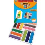Creioane colorate Tropicolors 2 216 buc/cutie Bic