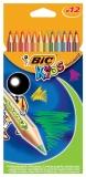Creioane colorate 12 culori Tropicolors 2 Bic