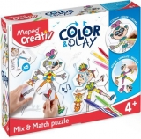 Set Creativ Color & Play Puzzle Maped