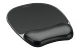 Mousepad cu suport pentru incheietura mana Crystal Fellowes negru