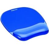 Mousepad cu suport pentru incheietura Crystal Fellowes albastru