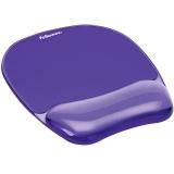 Mousepad cu suport pentru incheietura Crystal Fellowes violet