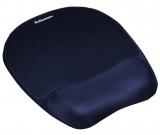 Mousepad cu suport incheietura Memory Foam Fellowes albastru inchis