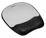 Mousepad cu suport incheietura Memory Foam Fellowes argintiu