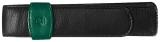 Etui de piele TG12, pentru 1 instrument de scris, negru-verde Pelikan