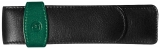 Etui de piele TG22, pentru 2 instrumente de scris, negru-verde Pelikan