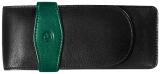 Etui de piele TG32, pentru 3 instrumente de scris, negru-verde Pelikan