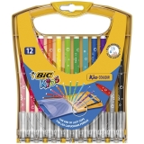 Markere de colorat Kids Kid Couleur, ultralavabile, 12 buc/set Bic