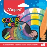 Creta color asfalt Color Peps 6 culori/set Maped