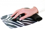 Mousepad cu suport incheietura Rocker Fellowes zebra pattern