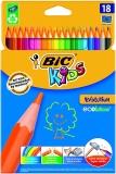 Creioane colorate 18 culori Evolution Bic