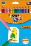 Creioane colorate 18 bucati Tropicolors 2 Bic