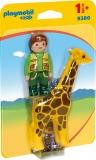 1.2.3 Ingrijitor Zoo Cu Girafa Playmobil