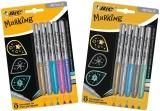 Marker permanent Marking Metalic, diverse modele, 5 culori/set Bic