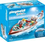 Barca De Viteza Cu Motor Playmobil