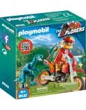Cercetator - Motociclist Si Raptor Playmobil