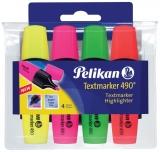 Textmarker 4/set 490 Pelikan