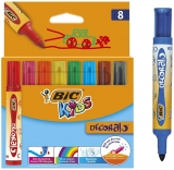 Carioci lavabile Kids Decoralo 8 buc/set Bic