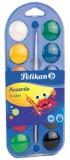 Acuarele 2 in 1 tip pastila 12 culori Pelikan