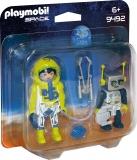 Set 2 Figurine - Astronaut Si Robot Playmobil