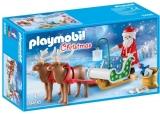 Sania Lui Mos Craciun Cu Reni Playmobil