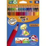 Creioane colorate Evolution 36 culori/set Bic