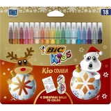 Carioci ultralavabile Kid Couleur Christmas, 18 buc/set