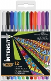 Liner Intensity Medium, 0.8 mm, 12 culori/set BIC