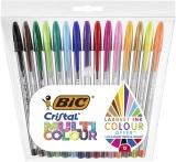 Pix Cristal Multicolor, 1.6 mm, 15 culori/set Bic