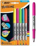 Marker permanent Marking Intense 5 culori/set Bic