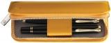 Etui de piele TG182 Pelikan 2 piese galben