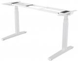 Baza metalica pentru birou reglabil pe inaltime, culoare alb, Levado Fellowes