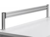 Bara de suport SlatWall, clema sistem 1, 120 cm, argintiu Novus