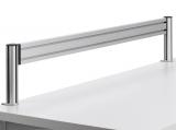 Bara de suport SlatWall, clema sistem 1, 140 cm, argintiu Novus