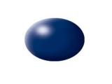 Aqua Dark Blue Silk