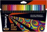 Marker Intensity, cerneala lavabila, 24 culori/set BIC