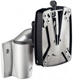 Suport monitor clema VESA, adaptor SlatWall, argintiu Novus