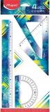 Set geometrie Cosmic Teens 4 piese, diverse modele, Maped