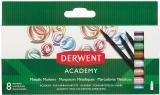 Set 8 carioci, culori metalice Derwent Academy