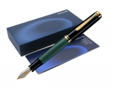 Stilou Souveran M1000 F negru-verde Pelikan