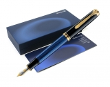 Stilou Souveran M600 F negru-albastru Pelikan