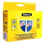 Servetele umede/uscate curatare ecrane Fellowes