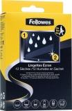 Servetele umede/uscate curatare ecran 12 bucati/set Fellowes