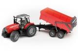 Jucarie Tractor Massey Ferguson 7480 cu remorca basculanta Bruder