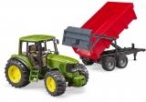 Jucarie Tractor John Deere 6920 cu remorca basculabila Bruder
