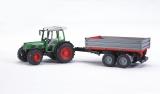 Jucarie Tractor Fendt 209 S cu remorca basculabila Bruder