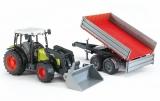 Jucarie Tractor Claas Nectis 267 F cu remorca basculabila Bruder