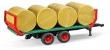 Set de joaca Remorca transport baloti cu 8 baloti rotunzi Bruder