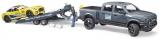 Set de joaca Masina de teren RAM 2500 si masina de curse Roadster Bruder