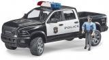 Jucarie Camion de politie RAM 2500 cu politist si accesorii Bruder